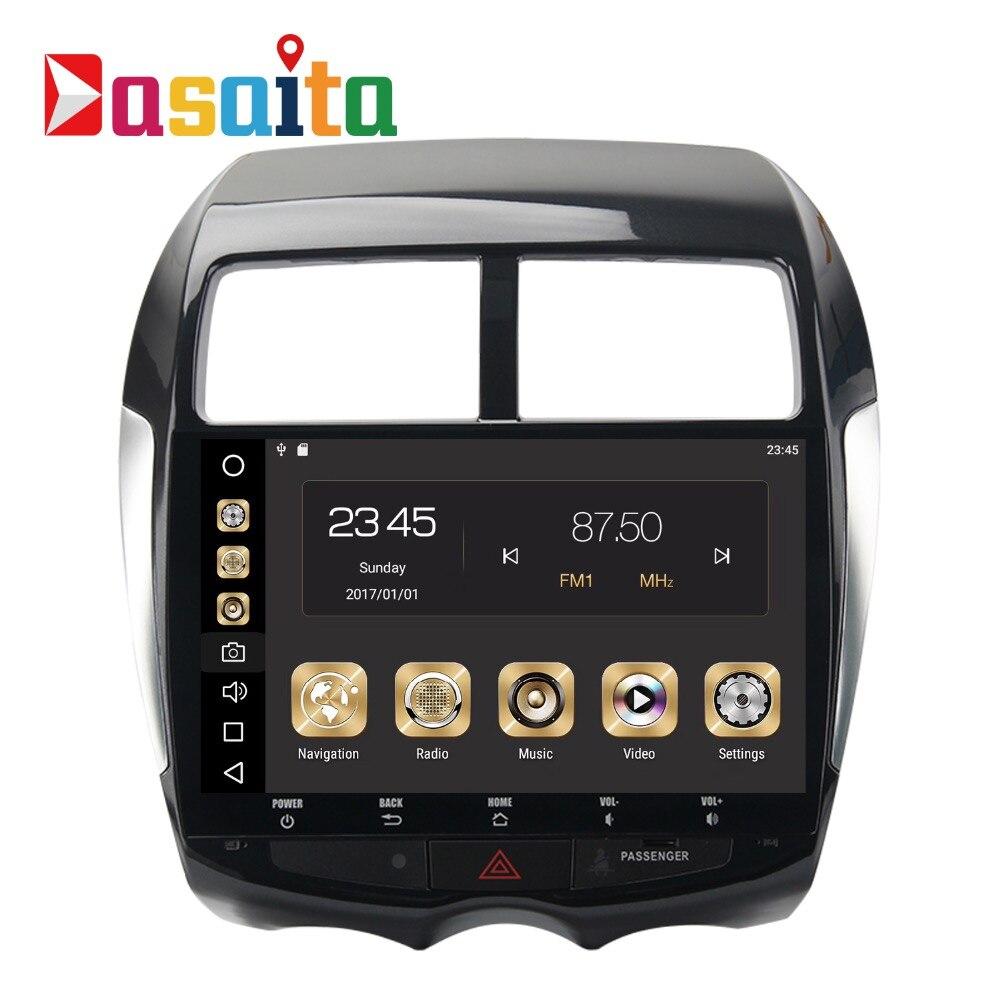 Voiture 2 Din Android 8.0 GPS pour Mitsubishi ASX Citroen C4 autoradio navigation tête unité multimédia 4 Gb + 32 Gb Android PX5 8-Core