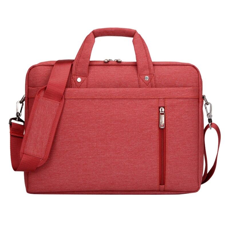 14 Inch big size Nylon Computer Laptop Solid Notebook Tablet Bag Bags Case Messenger Shoulder unisex men women Durable (Red)