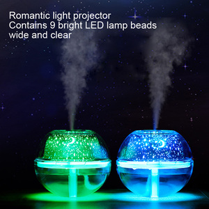 Image 2 - Crystal night lamp LED light star sky decorative colourful blub projector for home office 500ml air humidfier USB Desktop mist