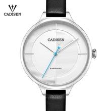 2017 Women's Watch Luxury Brand CADISEN New Geneva Quartz-watch Ladies Leather Strap Bracelet Wristwatch Relogio Feminino Clock