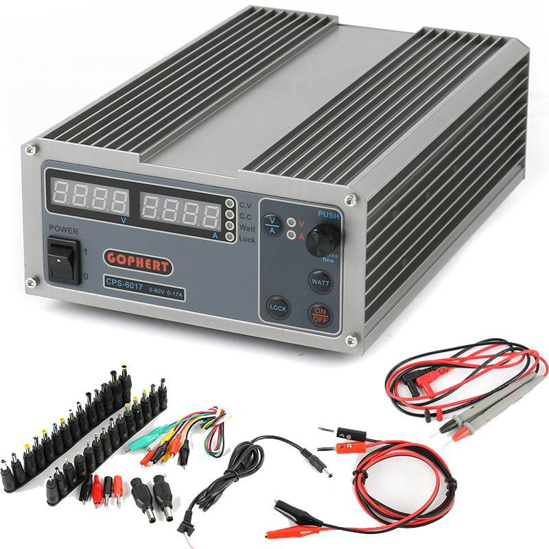 CPS-6017 Laboratory DC Power Supply 60V 17A High efficiency Compact Adjustable Digital Power Supply +DC Jack Set cps 6011 60v 11a digital adjustable dc power supply laboratory power supply cps6011