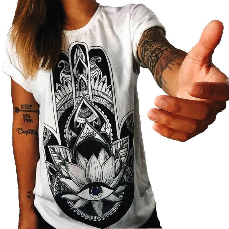 T-shirt de Algodão de verão Harajuku Mulheres roupas Coruja Imprimir O-pescoço Curto Manga Da Camisa T Mulheres Tops streetwear Camiseta Femme Casuais