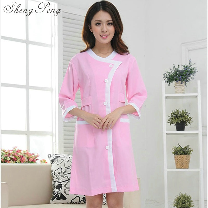 Medical white coat doctor coat medical robe lab coat women scrubs medical uniforms women ...