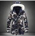 L160 2016 Venta Caliente chaqueta de invierno Moda Casual hombres Chaqueta con capucha de piel Abrigo Cómodo y de Alta Calidad 2 Colores Plus tamaño 5XL