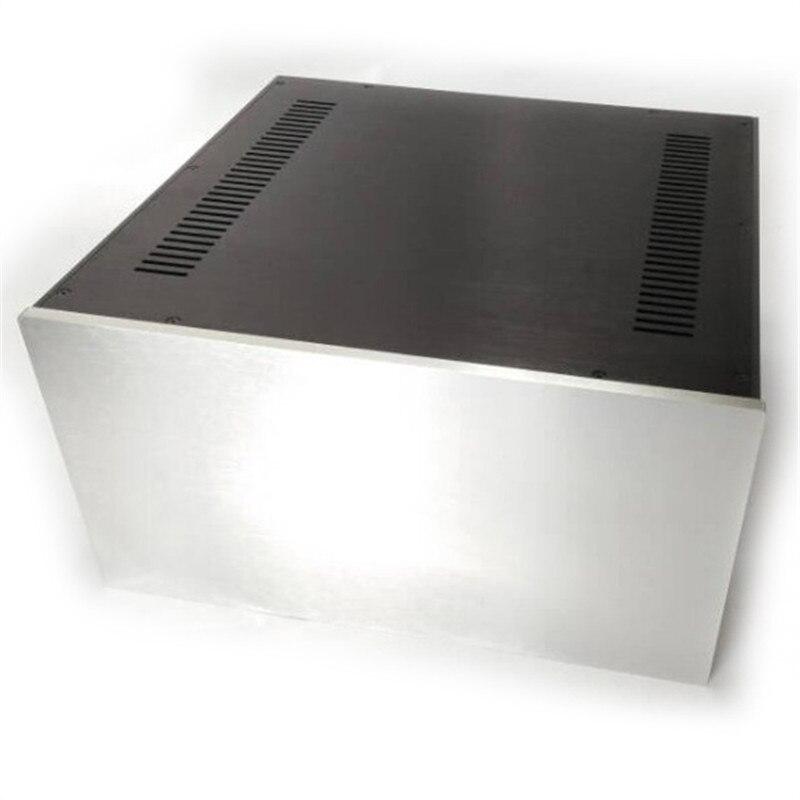 4323 полный алюминиевое шасси предусилитель коробка Мощность усилитель случае размер 430*230*410 мм
