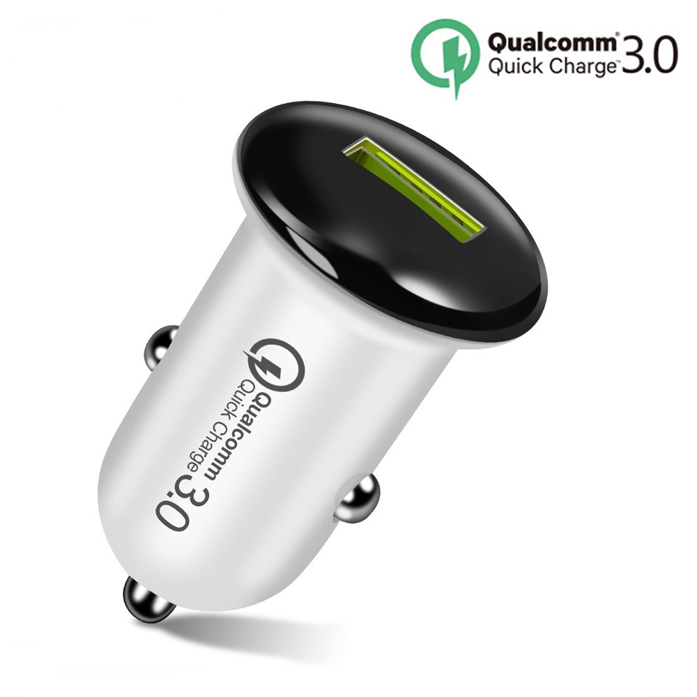 Mini 18W Fast <font><b>Charger</b></font> USB Car <font><b>Charger</b></font> Adapter Quick Charge 3.0 Car-<font><b>Charger</b></font> Auto Charging For Xiaomi One plus 5T Mobile Phones image