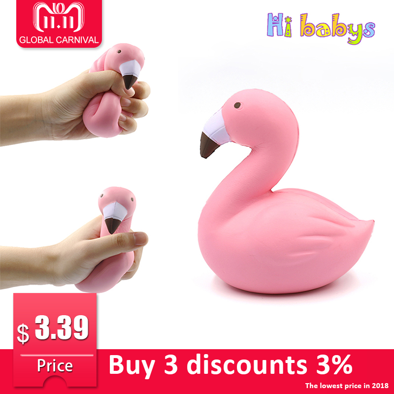 Antistress Squishes Toy Squishy Jumbo Flamingo Squeeze Toy Slow Rising Stress Reliever Gadget Funny Children Adult Gift 11 5cm strawberry scented squishy slow rising squeeze toys jumbo collection anti stress funny toy gift toys for children 2018