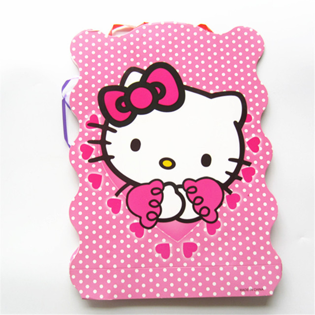 1pcs/lot Hello Kitty Paper Folding Pinata Party Game Baby Shower Cartoon  Design Theme Kids