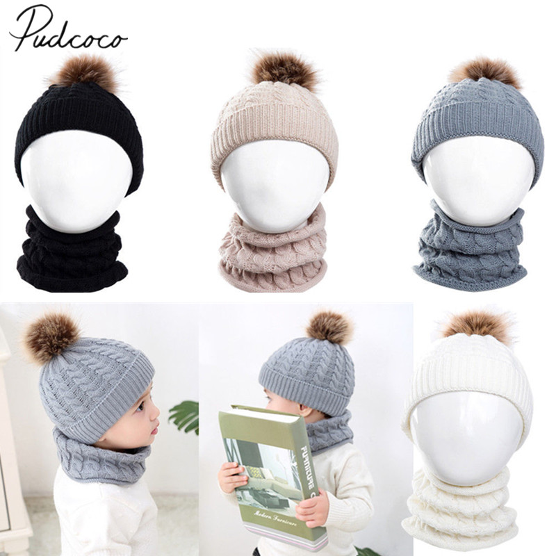 3aa5f623008 Detail Feedback Questions about 2018 Brand New Kid Girl Boy Baby Infant  Winter Warm Crochet Knit Furry Hat Beanie Cap+Scarf 2Pcs Sets Outfit 0 3  Years Gifts ...