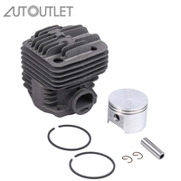 AUTOUTLET Nikasil Coated Pot Cylinder Liner And Piston Rings Fits Stihl TS400 Cut Off Saw Cylinder Piston With Piston Pin