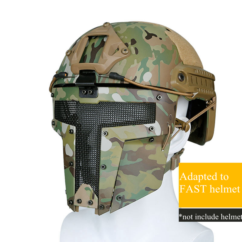 Military Tactical Combat Mask Breathable Outdoor Hunting Shooting Fast Helmet Mask Protective Airsoft CS Wargame Masks