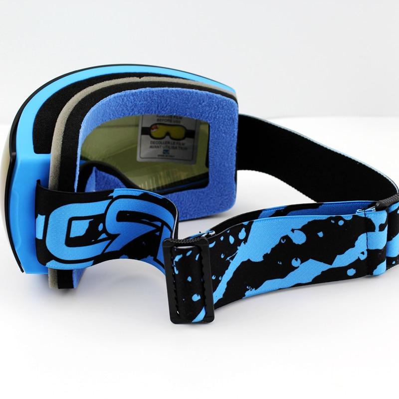 Lila Linse Blau Rahmen Marke Skibrille Doppel UV400 Anti-Fog Große - Sportbekleidung und Accessoires - Foto 6