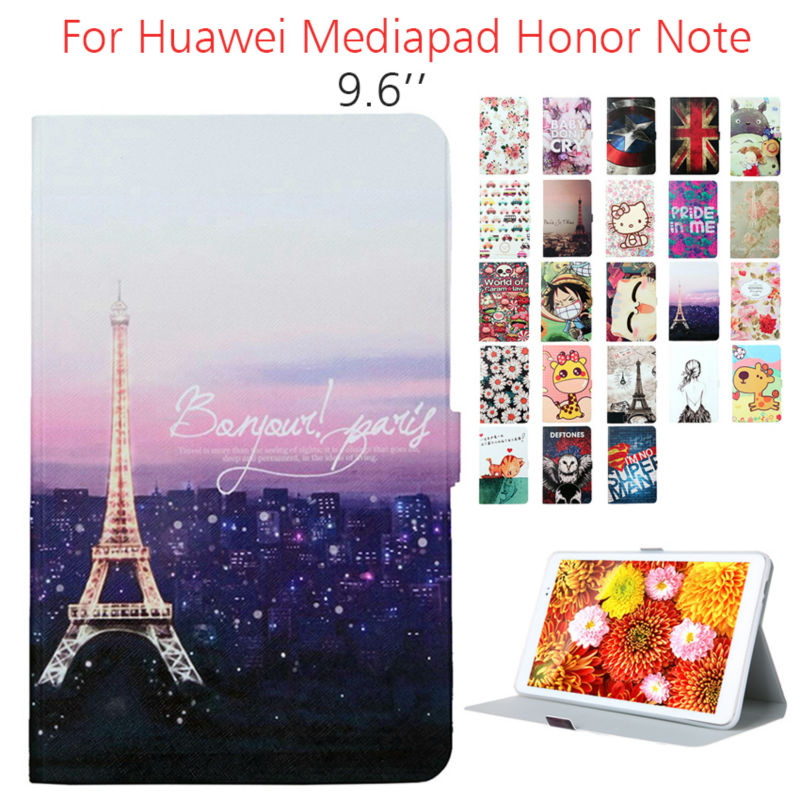 Note T1 10 PU Leather Case Tablet Cover Smart Magnetic Fundas Print For Huawei MediaPad Honor Note T1 10 T1-A21W T1-A21L T1-A23L flip pu leather case for huawei t1 10 9 6 t1 a21w tablet case for huawei mediapad t1 t1 a21l t1 a23l honor note smart cover