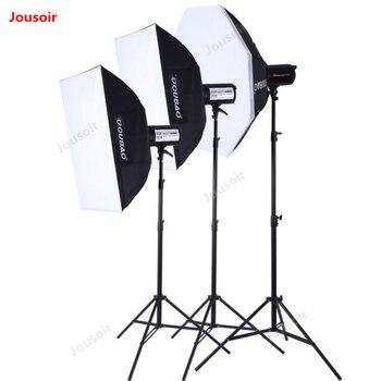 ثلاثة مصباح يدوي كيت الفوتوغرافي SoftBox مصباح حامل 3 فلاش مجموعة TTF300W الثلاثي التصوير أضواء حزمة استوديو الإضاءة دعوى CD50 T10