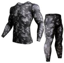 2 Piece Tracksuit Men Compression MMA Long sleeve t shirt Rashgard kit Camouflage Sweatshirt+leggings Fitness Thermal underwear cheap Long Johns Stretch Spandex PADEGAO 33299 Cross-Country Cycling Baseball Football Racing Fitness Leisure Sports Practise Performance Outdoor Indoor