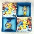 20 Pcs Pokemon crianças meninos meninas crianças de quartzo dos desenhos animados Crianças Relógio De Pulso Relógios Com Caixas De Favores Do Partido Brinquedo de Presente