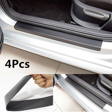 3D Carbon Fiber Car Door Stickers Car Threshold Stickers for Audi A3 A6 C6 C5 A4 B8 B6 A5 B7 Q5 Q7 Q3 A1 Auto Parts Decora usb car front and rear seat fast adapter with extension cord cable for audi a4 a3 q5 q7 a5 b6 b8 a6 c5 b7 c6 a8 tt accessories