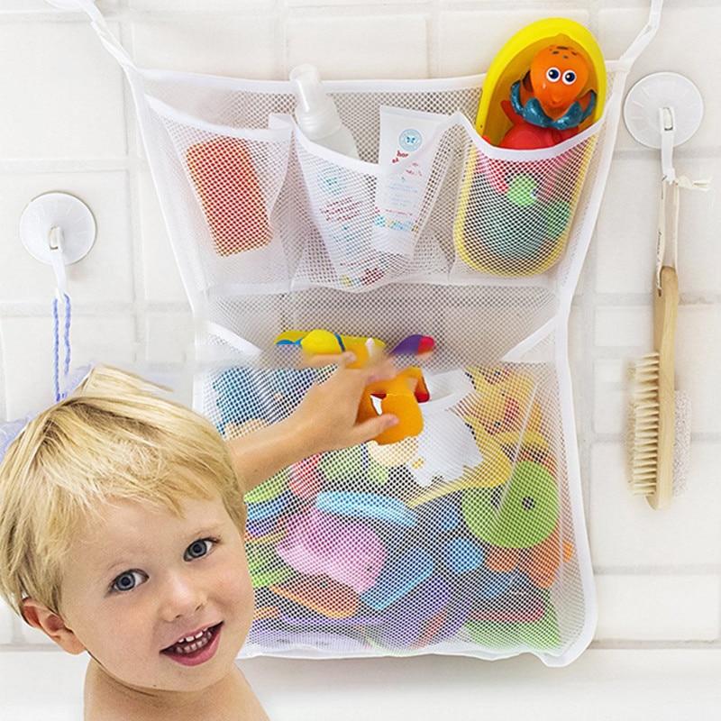 Baby Toy Mesh Bag Bath Bathtub Doll Organizer Suction Bathroom Bath Toy Stuff Net Baby Kids Bath Bathtub Toy Bath Game Bag Kids