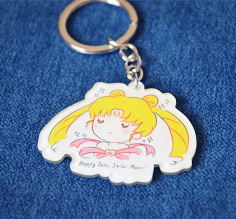 Sailor moon Cartoon Keychain Anime Charm Art Figure Pendant KeyRing Toy Halloween Cosplay Acrylic keychain Cartoon Toy Gift