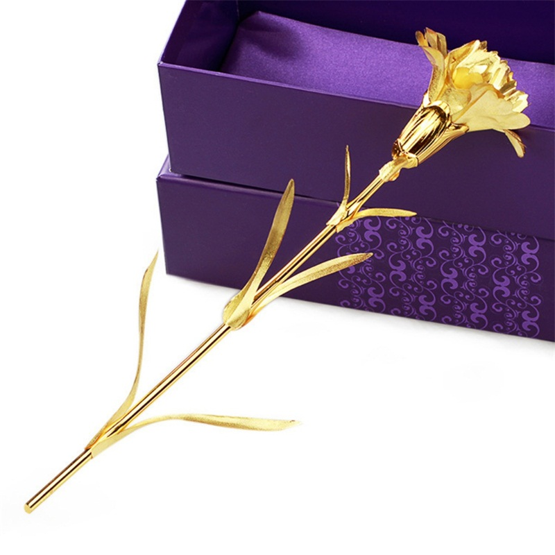 Mother 39 s Day Flowers Gift Home Decoration 24K Gold Plated Rose Flower Romantic Valentine 39 s Artificial Dried Flowers in Artificial amp Dried Flowers from Home amp Garden
