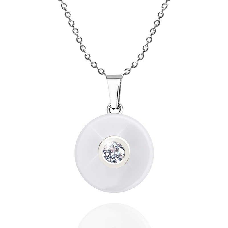 Керамическое ожерелье с плюшевая коробка для подарка женские керамические ожерелья со стразами & подвеска колье цепочка с безделушкой femme с бесплатной цепочкой