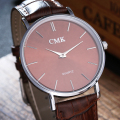 Simple Men Quartz watch CMK Brand ultrathin dial Fashion Casual Leather Watch ladies dress business Wristwatch Luxury Clock hour
