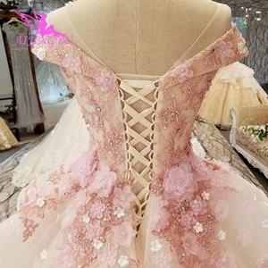 Image 4 - AIJINGYU בציר חתונת שמלת שמלות יוקרה כובע תחרה Bridals ארוך רכבת לבן בתוספת גודל לבנדר שמלות חתונה שמלת חנויות