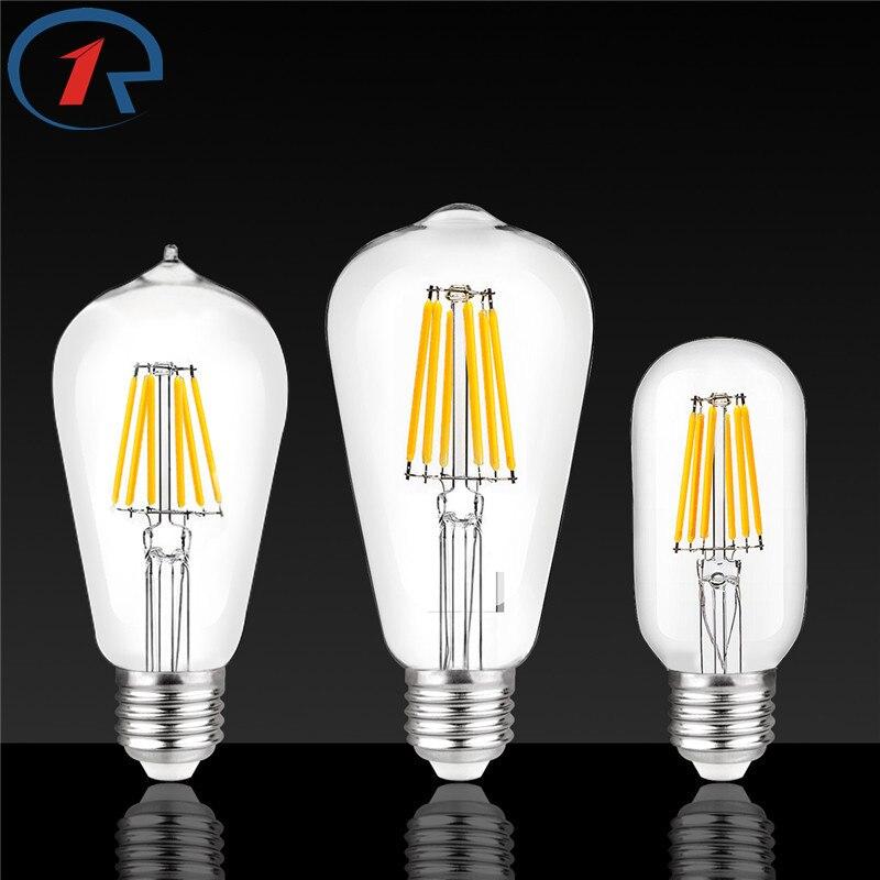 ZjRight 8W E27 Vintage Edison LEDLamp Energy Saving Lighting bulb Cafe school library factory Office Indoor Decorative lighting