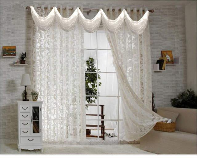 € 16.77 5% de réduction Rideaux rideau pour salon moderne voile cuisine  rideaux avec perles luxe tulle panneau fenêtre rideau cantonnière 4 ...