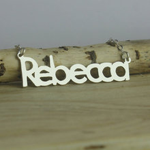 Wholesale Custom Beatles Name Necklace Personalized Silver Nameplate Jewelry Special Style BFF Gift