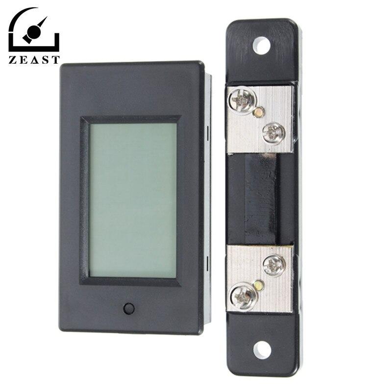 100 V 4 en 1 voltímetro Digital amperímetro LCD voltaje de corriente DC energía Meter Tester con DC 75mV derivación DC 6,5