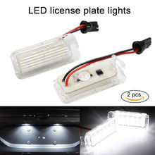 купить 2pcs Car Led License Plate Lights LED Lamps For Ford Fiesta JA8 Cars For Focus MK2 MK3 MK6 DYB Kuga For Mendeo LED Car Light дешево