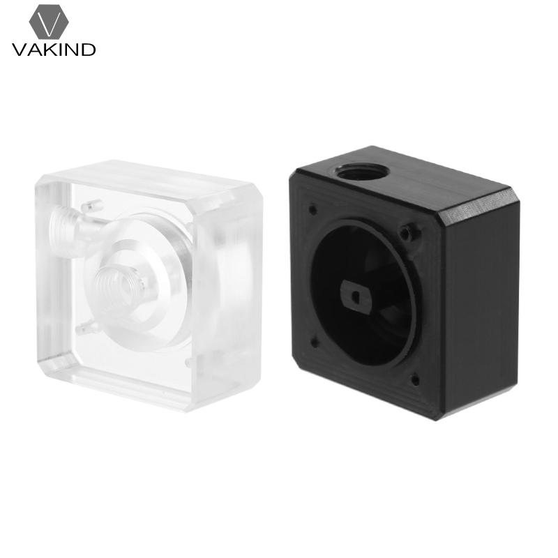 SC600 Computer Water Cooling Pump with Top Cover Inlet and Outlet G1/4 Thread Black POM Transparent Acrylic Water Pump Cover water cooling flow meter acrylic 2 and 3 ways g1 4 speedometer thread with no joints cooling kit fittings