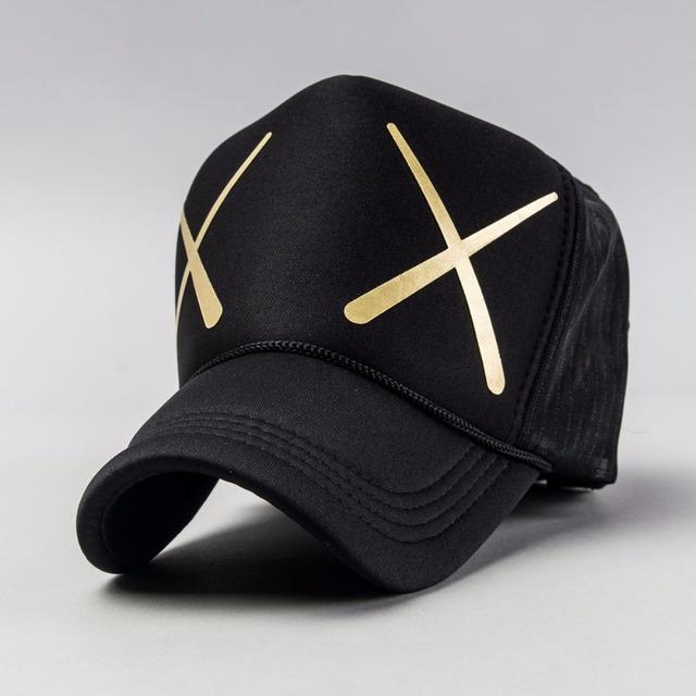 Tampão do camionista 2016 atacado para o verão, XX logo ser impresso boné de beisebol chapéu de aba curva, tampas de malha de volta com malha chapéu para o casal