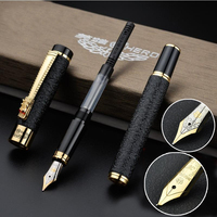 2017 High Quality Iraurita Elbow Fountain Pen Full Metal Golden Clip Luxury Pens Caneta Stationery Office