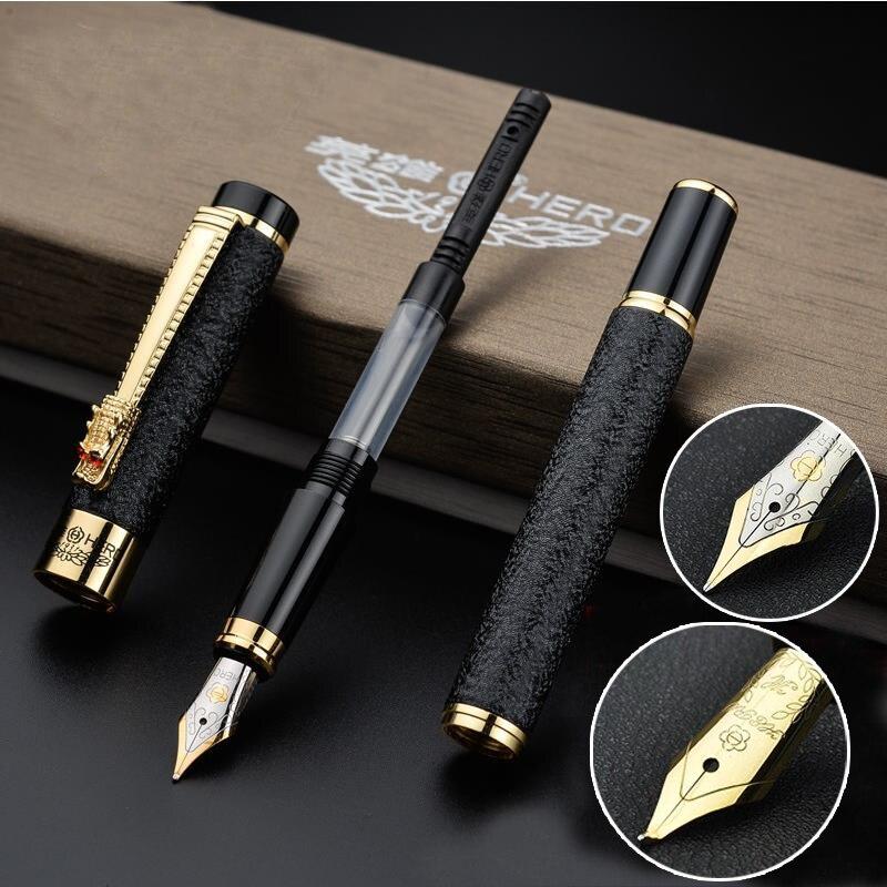 Di alta qualità penna Stilografica inchiostro della penna pennino Iraurita Penna stilografica Clip Dorata di lusso Vulpen Cancelleria Stylo plume 03820