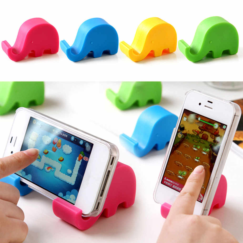 1pcs Mini Elephant Table Desk Mount Stand Phone Holder for Cell Mobile Phone Tablets Hot