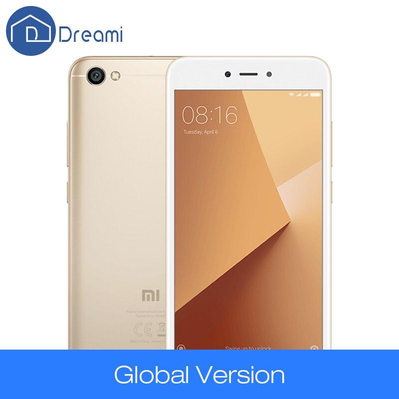 Dreami Global Version Original Xiaomi Redmi Note 5A 2GB 16GB Snapdragon 425 Quad Core Mobile Phone 13MP 5.5 Inch 2+1 Card Slot