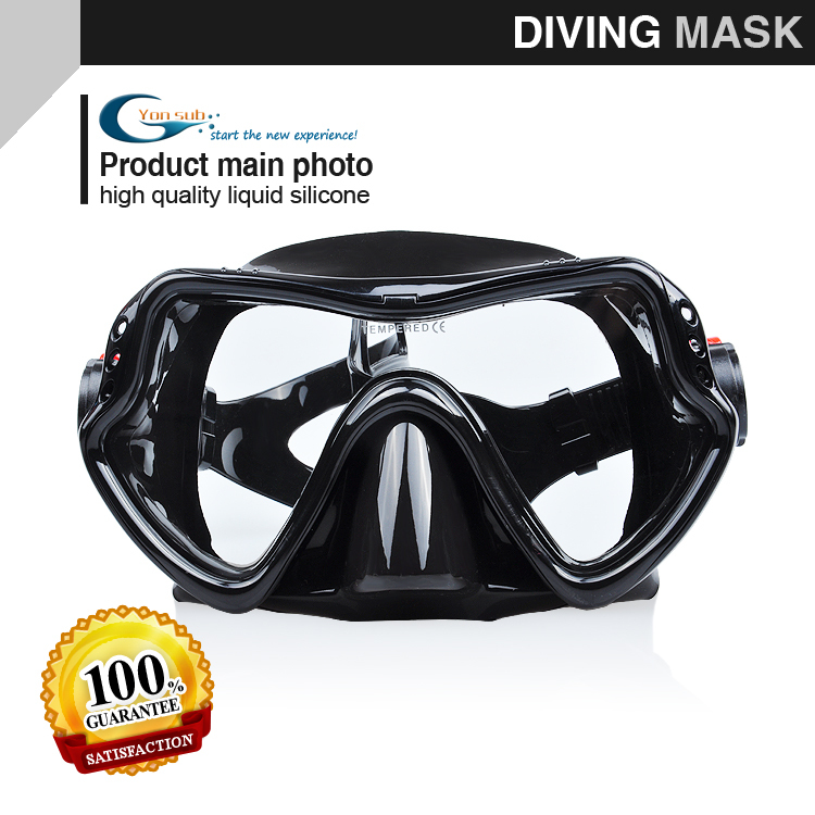 Hot Sale Ny Professionell Scuba Swimming Mask Snorkling Silikon Svart Diving Mask Spearfishing Mask Gratis frakt
