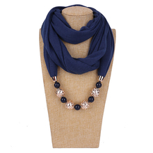 Fashion Ethnic Polyester Solid Collar Tassel Gorgeous beads pendants jewelry Necklace Jewelry Ring Scarf Women Shawl Scarves Hot spike tassel scarf necklace pendants scarves autumn women necklace scarf charm bohemian jewelry gift