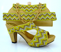 2016 Latest African Matching Shoes And Bag Set Free Shipping Italian Matching Shoe And Bag,gold Shoes And Bag Set!MVB1-46