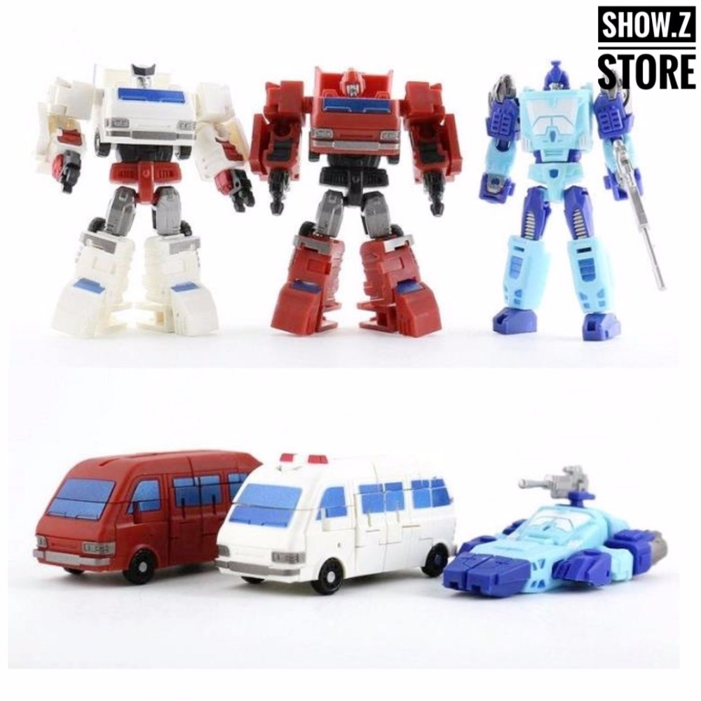 [Show.Z Store] DX9 Toys War In Pocket X01 X02 X03 Campaigners Set of 3 Ironhide Iron Hide Ratchet Transformation Action Figure for avc dssc0715r2l p002 dc 12v 0 3a 4 wire 4 pin connector 100mm 70x70x15mm server square cooling fan