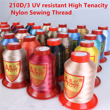 3pcs 210D/3 UV resistant High Tenacity Nylon Sewing Thread Handmade Clothes Bags Jeans ,Denim Leather  embroidery