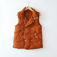 Down Vest Women Autumn Winter 2017 New Arrival Stand Collar 90% White Duck Brief Fashion Waistcoat M/L/XL