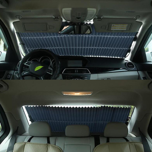 Image 4 - Parasol automático para coche, parasol de coche SUV MVP para parabrisas delantero de coche, parasol para ventana trasera, visera de protección UV de 65CM/70CM