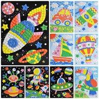Mosaic diamond stickers cartoon paste paper kindergarten 3 6 years old diy creative children handmade material package