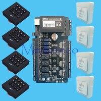 Tcp/ip 4 двери контроля доступа панели контроля доступа бортовой сети Интеллектуальный Доступ Панель + клавиатура RFID считыватель KR102 доступа к