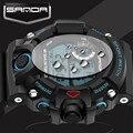 Sanda mens relógios top marca de luxo led relógio digital militar relógios desportivos para homens relógios de pulso homens horas montre homme 2017