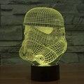 В силу пробуждает Stromtrooper из светодиодов светло-до игрушка настольная лампа 3D эффект из светодиодов градиент визуальный творческий личного настроение создатель