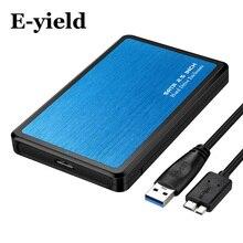 2,5 дюймов USB3.0 Корпус SATA HDD инструмент Бесплатная поддержка 6 ТБ UASP протокол жесткий диск Корпус Алюминий и ABS материал